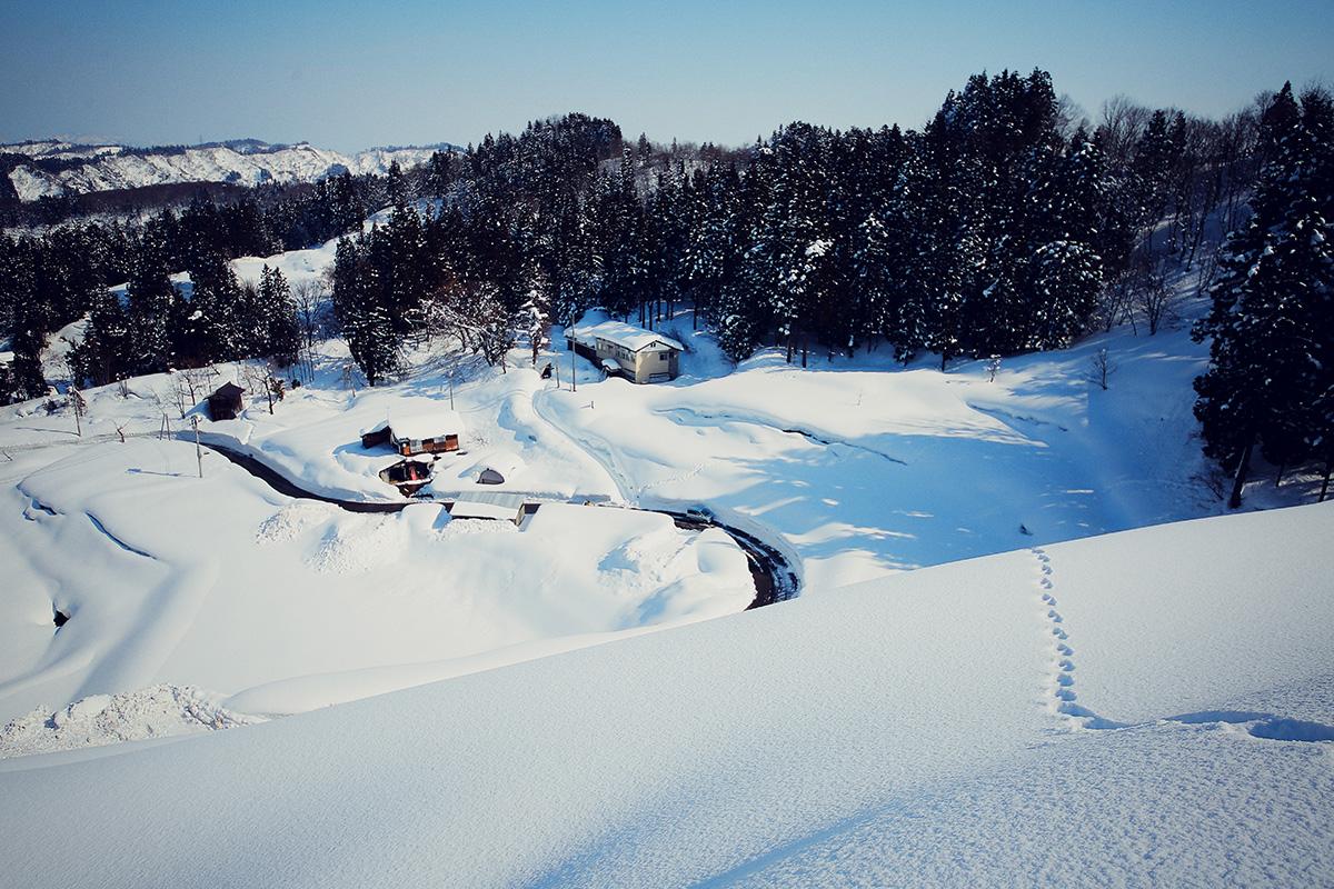 雪の池谷集落