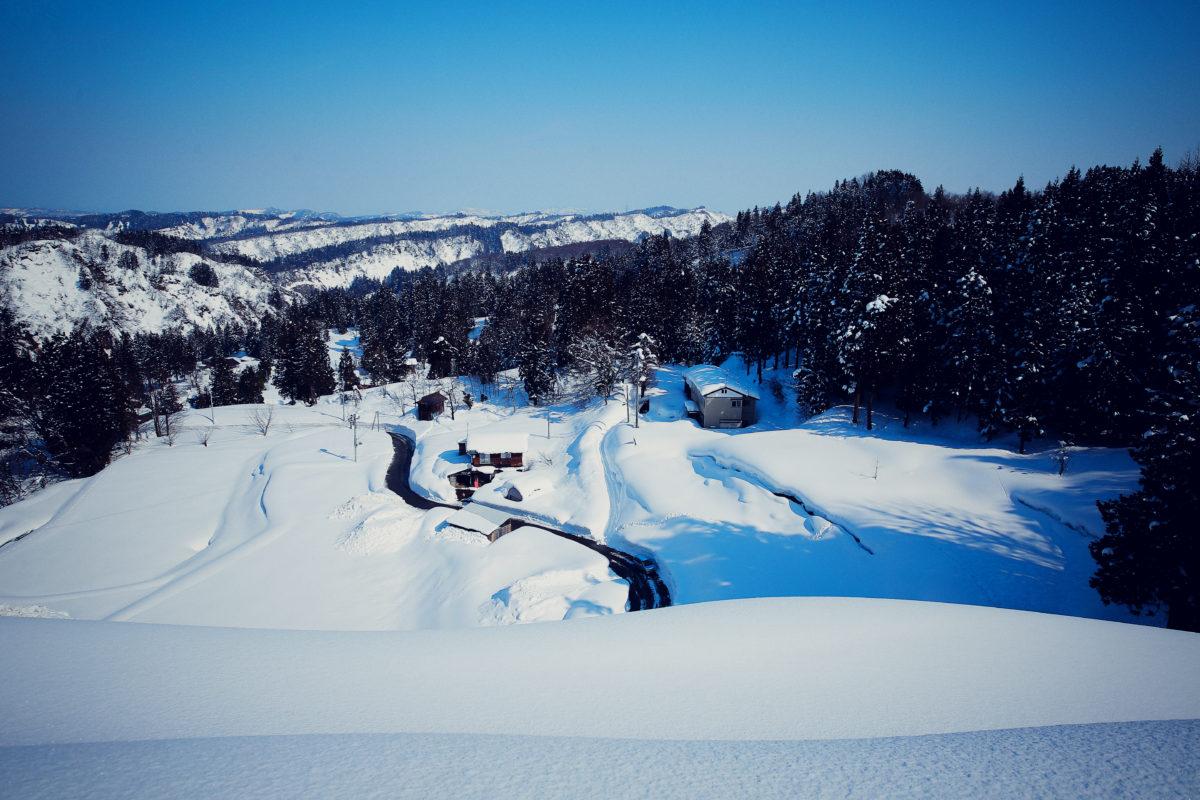 十日町市池谷集落の冬景色