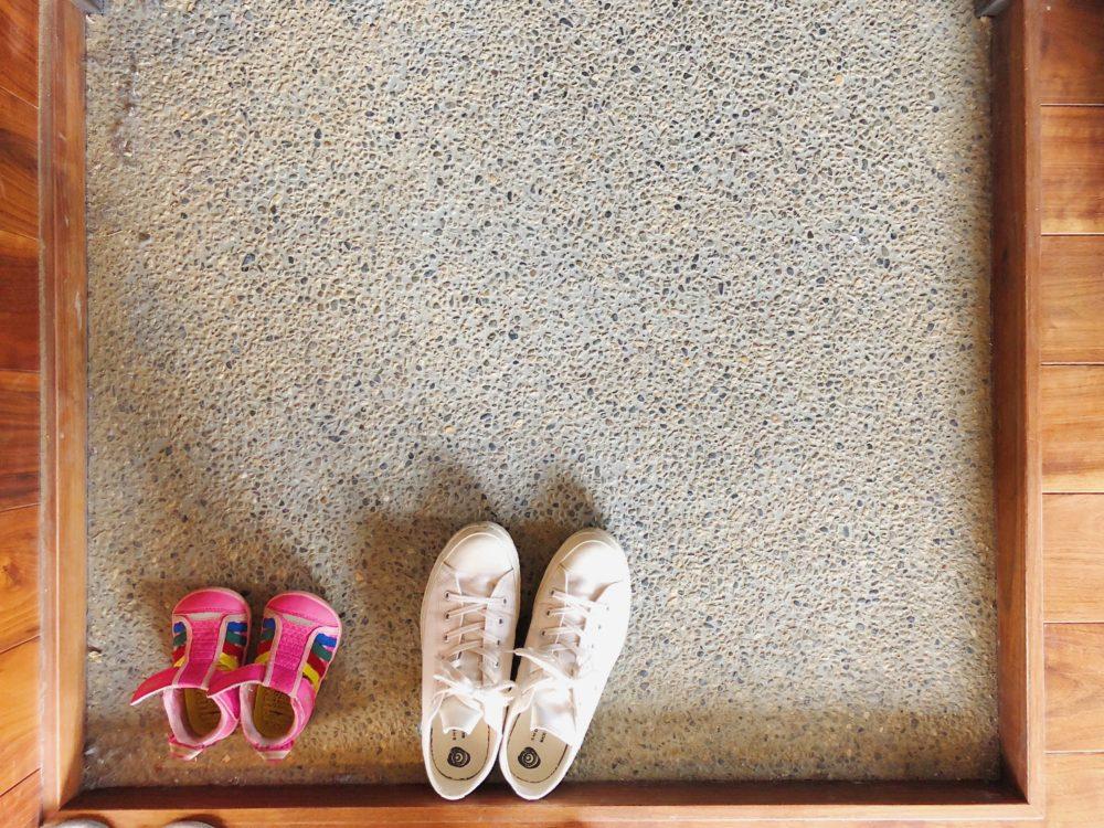 あさちゃんとまゆみの靴